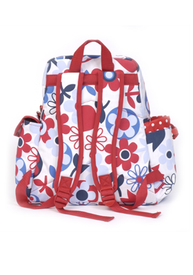 Small Backpack: Tulips (Back View)