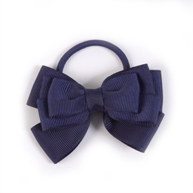 4 School - Hair Elastic Triple Bow