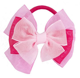 Hair Elastic Triple Bow